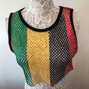 Forever 21 fish net crop top